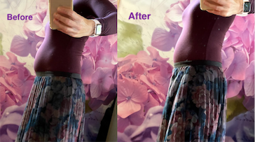 Ultra Thin High Waist Shaping Panty - Before wearing Maidenform and after